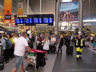 120804アイスランド、グリーンランド・コペンハーゲン空港