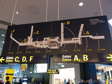 120804アイスランド、グリーンランド・コペンハーゲン空港内の所要時間