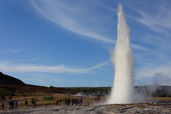 120805アイスランド、グリーンランドの旅・ゲイシール間欠泉