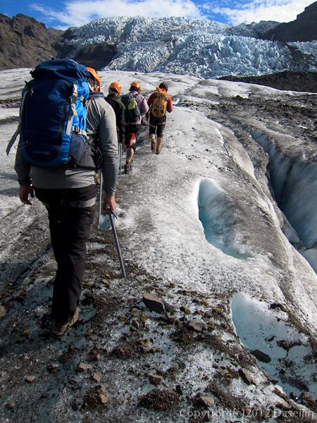 120807アイスランド、グリーンランドの旅・氷河トレック