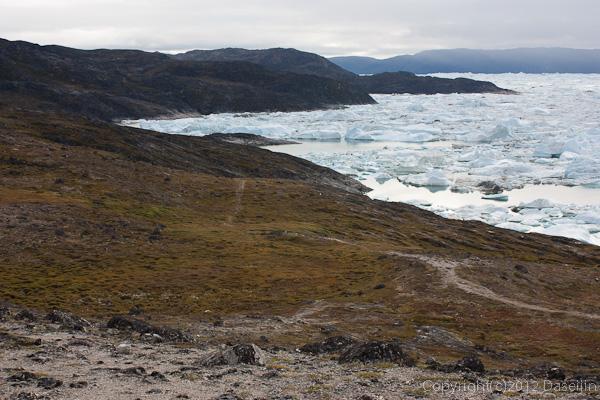 120811アイスランド、グリーンランドの旅・イルリサット世界遺産地区トレッキングルート