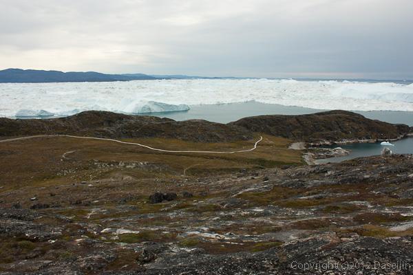 120813アイスランド、グリーンランドの旅・黄色ルートからイヌイット旧居住区
