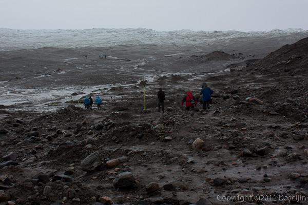 120814アイスランド、グリーンランドの旅・氷床入り口