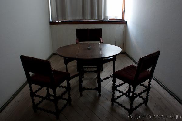 120816アイスランド、グリーンランドの旅・デンマーク、クロンボー城の椅子