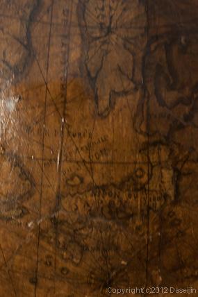 120816アイスランド、グリーンランドの旅・デンマーク、クロンボー城の大航海時代の地球儀、日本海の表記