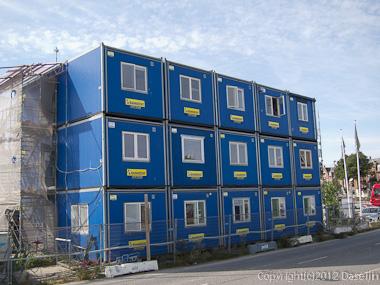 120816アイスランド、グリーンランドの旅・デンマーク、工事現場の仮設事務所