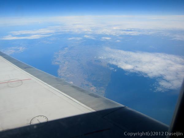 120817アイスランド、グリーンランドの旅・スカンジナビア半島上空