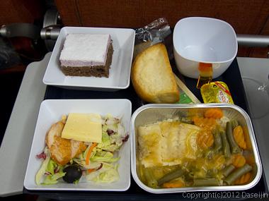 120817アイスランド、グリーンランドの旅・アエロフロート夕食