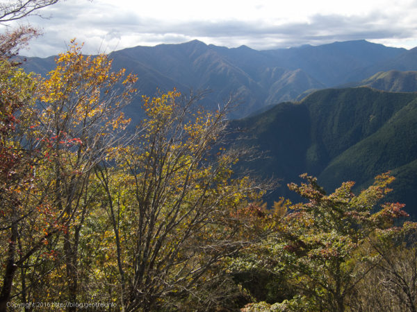 川苔山・山頂から石尾根
