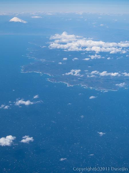 120404熊本・空撮富士山と伊豆半島