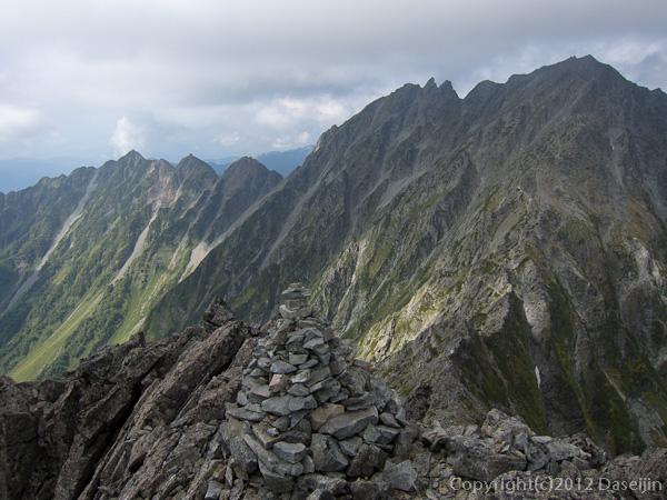 120921北穂前尾根・前穂高岳山頂