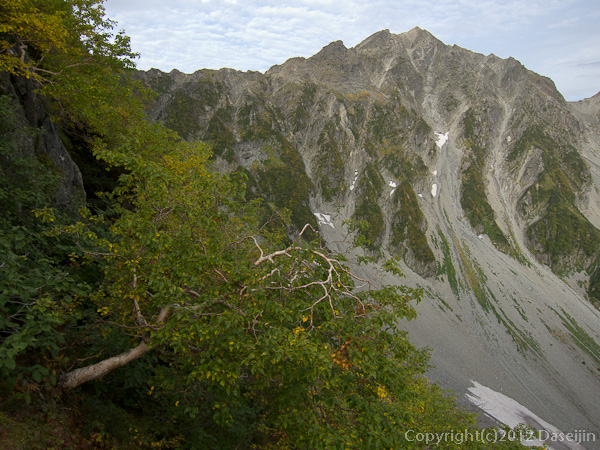120921北穂前尾根・五峰の登りから