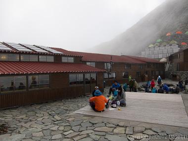 120921北穂前尾根・穂高岳山荘