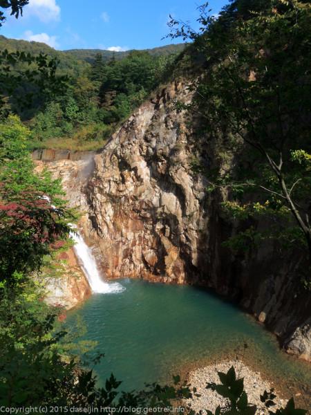 150922滝ノ上温泉の鳥越の滝