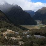 圏谷を下り氾濫原のサイト場、ルートバーン・フラットへ~ニュージーランド、ルートバーン・トラック(7)
