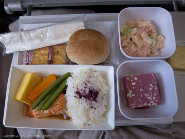 ニュージーランドエア、昼食