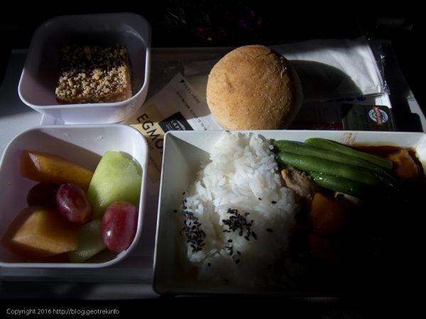 ニュージーランドエア、夕食