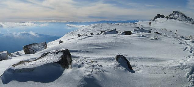 金峰山山頂からのパノラマ