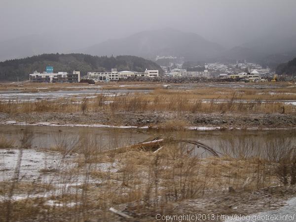 陸前高田中心部の風景