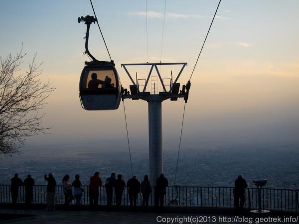 130829サルタ・サンベルナルドの丘で日没を待つ