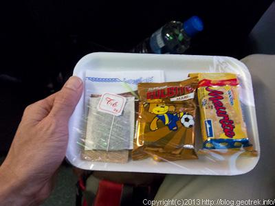 130901サンペドロ行きバスの朝食