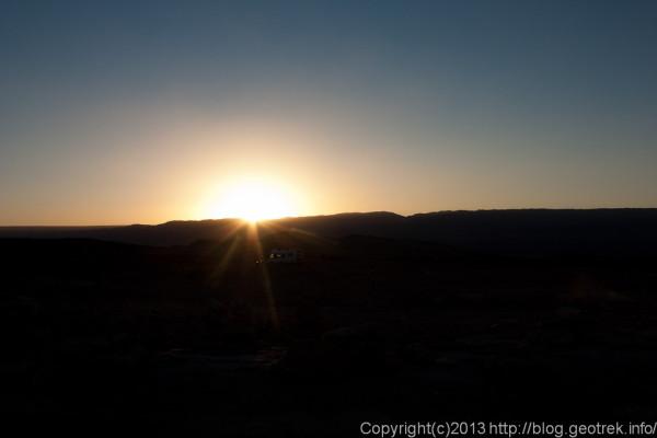 130902サンペドロ、死の谷の夕日
