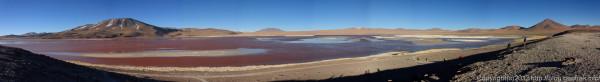 130903アタカマ砂漠、ラグーナ・コロラダのパノラマ
