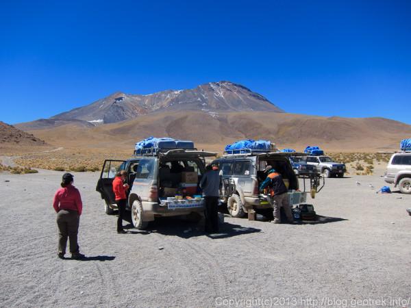 130904アタカマ砂漠、ラグーナ・カニャパで昼食1