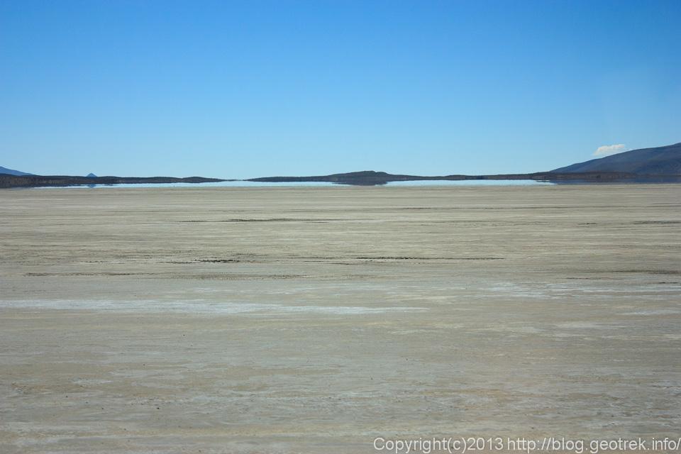 130904アタカマ砂漠、チグアナ塩湖の蜃気楼2