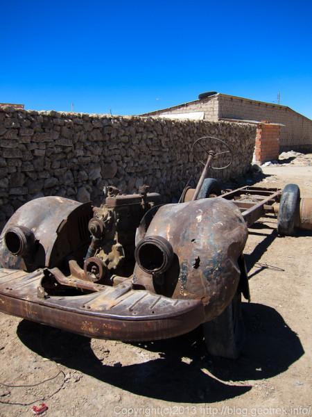 130905ボリビア、ウユニ、車の残骸