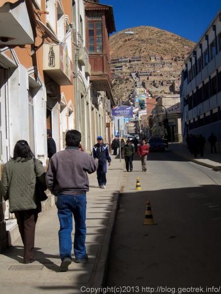 130906ボリビア、オルーロの通り