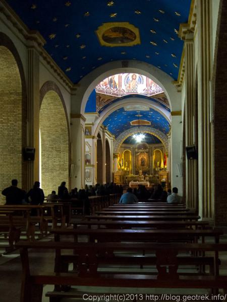 130906ボリビア、オルーロのソカボン教会のミサ
