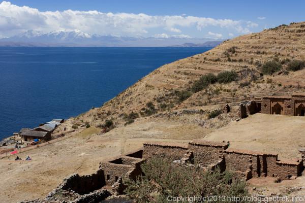 130907ボリビア、ティティカカ湖月の島の遺跡