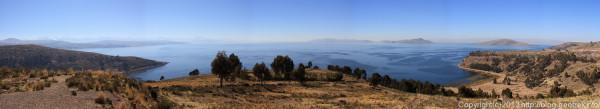 130907ボリビア、ティティカカ湖のパノラマ