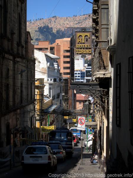 130908ボリビア、ラパスの通り