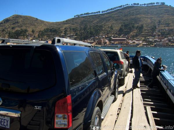 130907ボリビア、ティティカカ湖の渡し舟