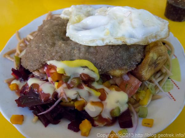 130908ボリビア、ラパスの昼食