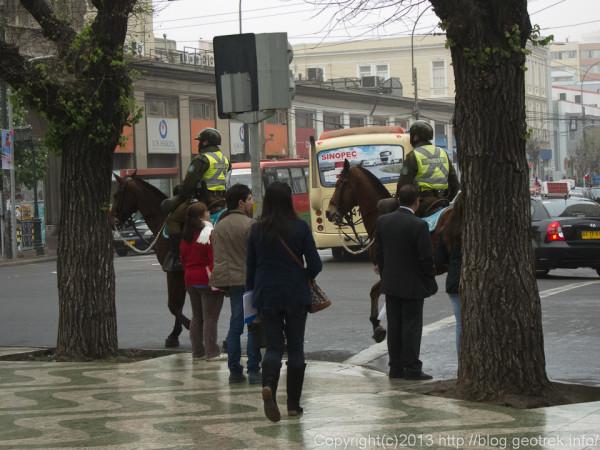 130909チリ、バルパライソの警察