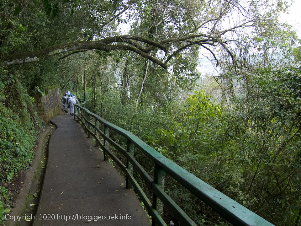130826 ブラジルイグアスの滝遊歩道
