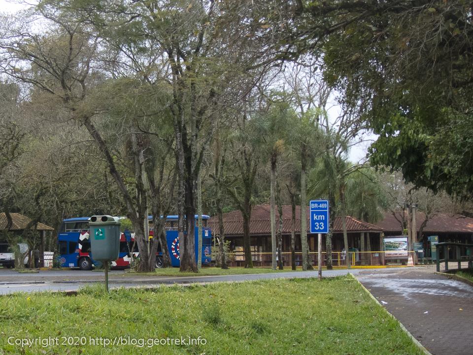 130826 ブラジルイグアス国立公園バス停