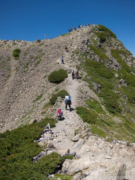 20130811もうすぐ仙丈岳山頂