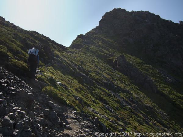 20130812三峰岳への登り