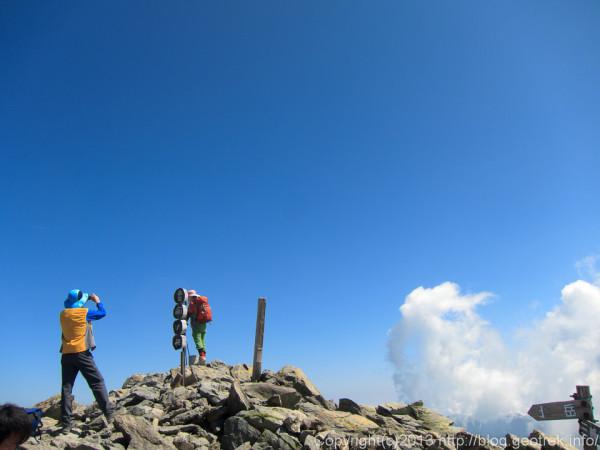 20130812間ノ岳山頂
