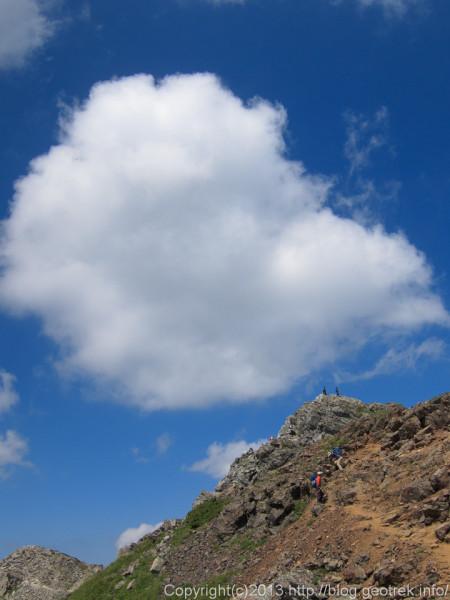 20130811北岳山頂は近い
