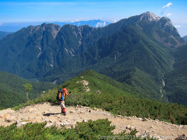 20130811甲斐駒ケ岳と鋸岳
