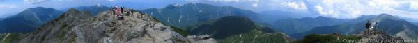 20130811北岳山頂からのパノラマ