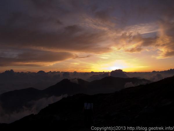 20130813北岳の夜明け