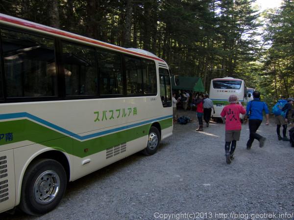 20130811北沢峠バス停