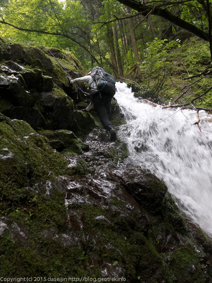 シダクラ沢2段6mの滝