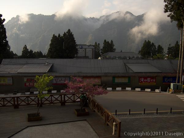 120310阿里山・阿里山駅3階からの展望